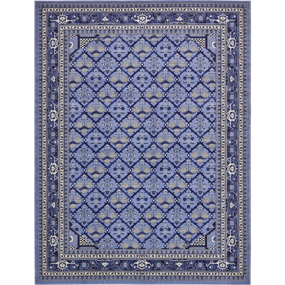 Unique Loom La Jolla Trellis Blue 10 0 X 13 0 Area Rug