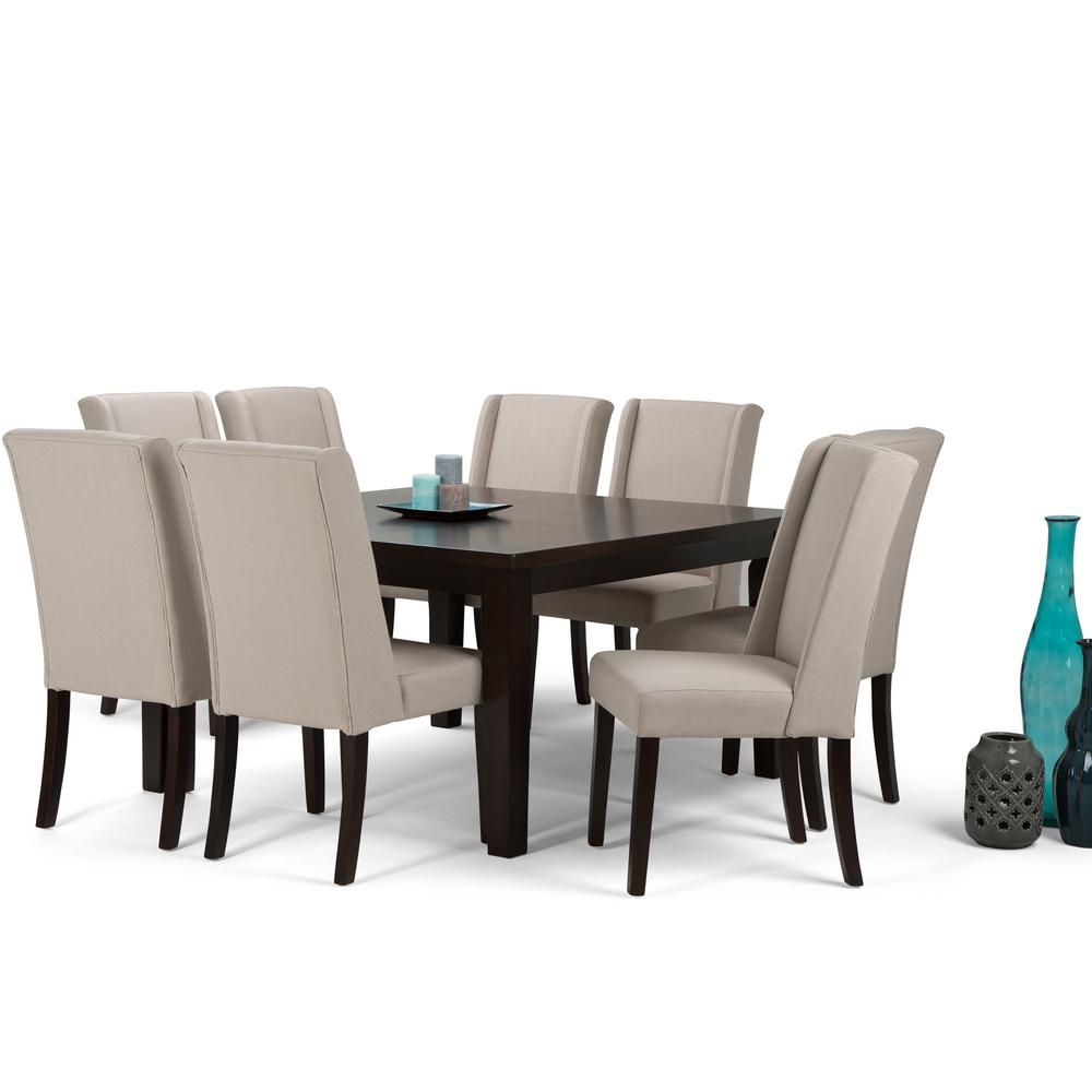 Simpli home sotheby 9 piece natural dining set axcds9sb nl for Jardin 8 piece dining set