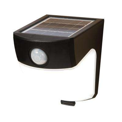 120-Degree Black Motion Activated Sensor Outdoor Solar Powered Wedge Security Light