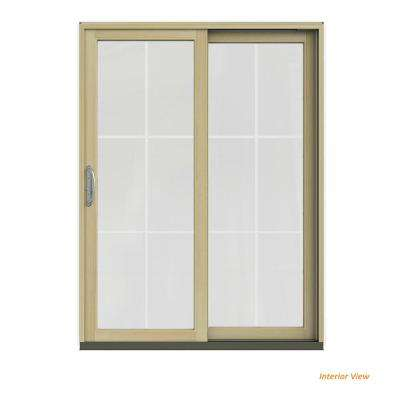 60 In. X 80 In. W 2500 Contemporary White Clad Wood Left