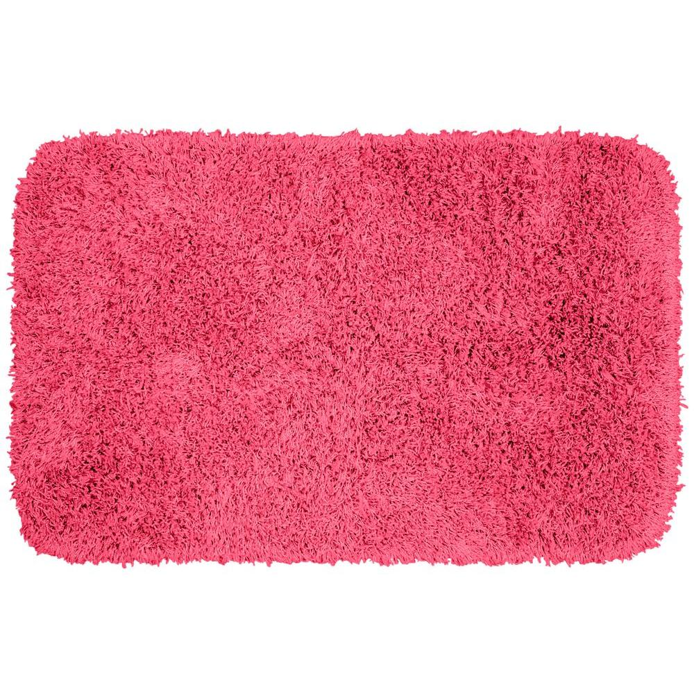 Washable Rugs Pink: Garland Rug Jazz Pink 24 In. X 40 In. Washable Bathroom