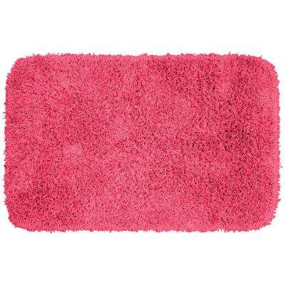 Jazz Pink 24 in. x 40 in. Washable Bathroom Accent Rug
