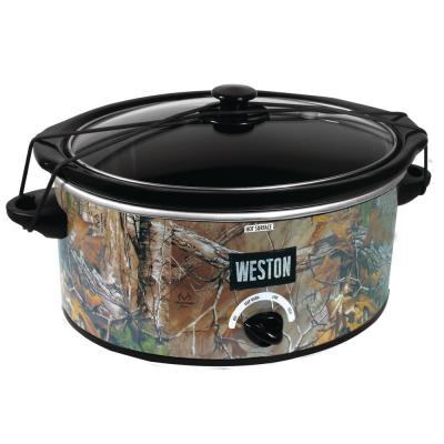 5 Qt. Black Camouflage Slow Cooker with Locking Lid