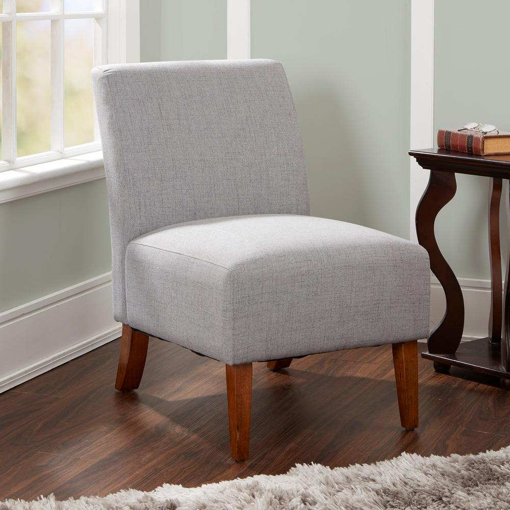 Silverwood addison silver upholstered accent chair