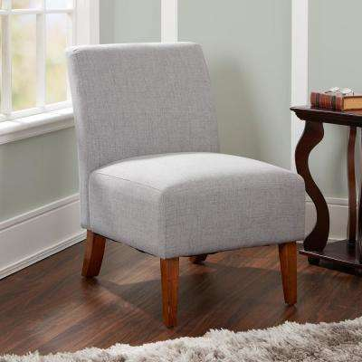 Addison Silver Upholstered Accent Chair