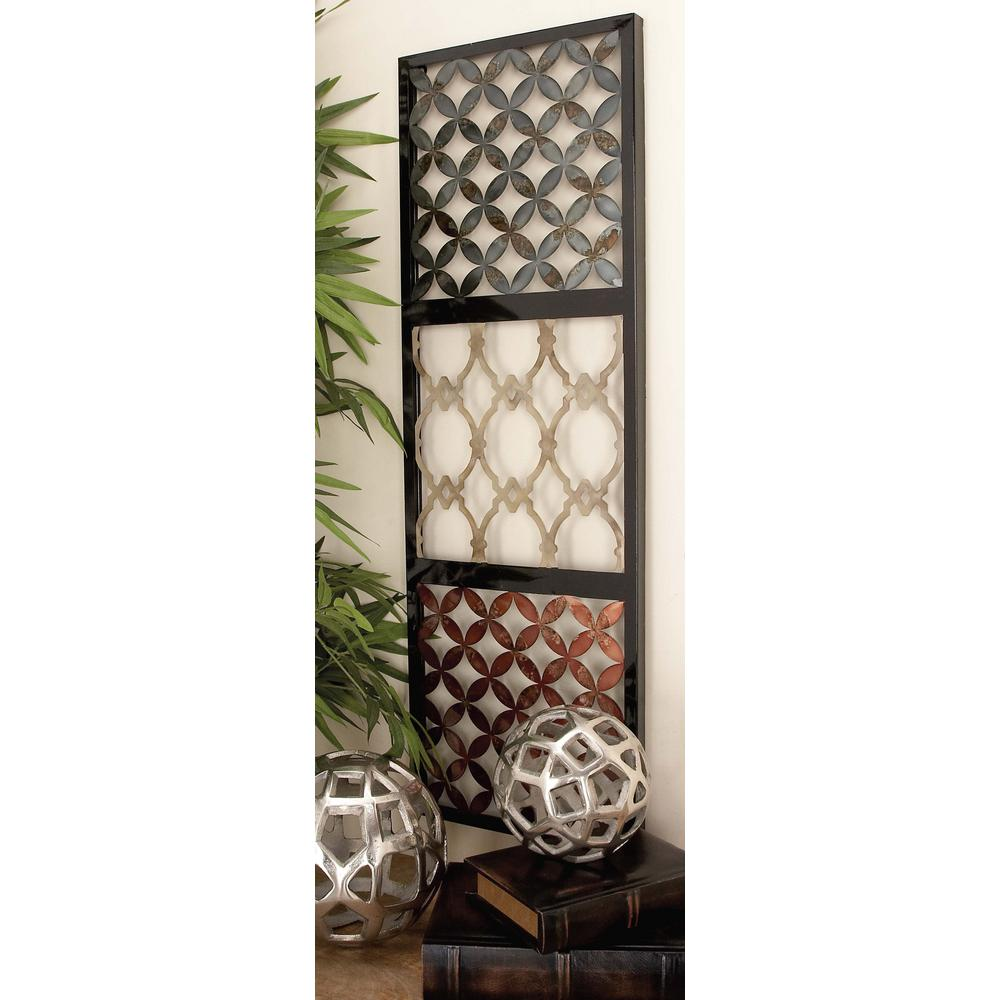 Litton Lane 3 Piece Contemporary Assorted Pattern Metal Wall Decor