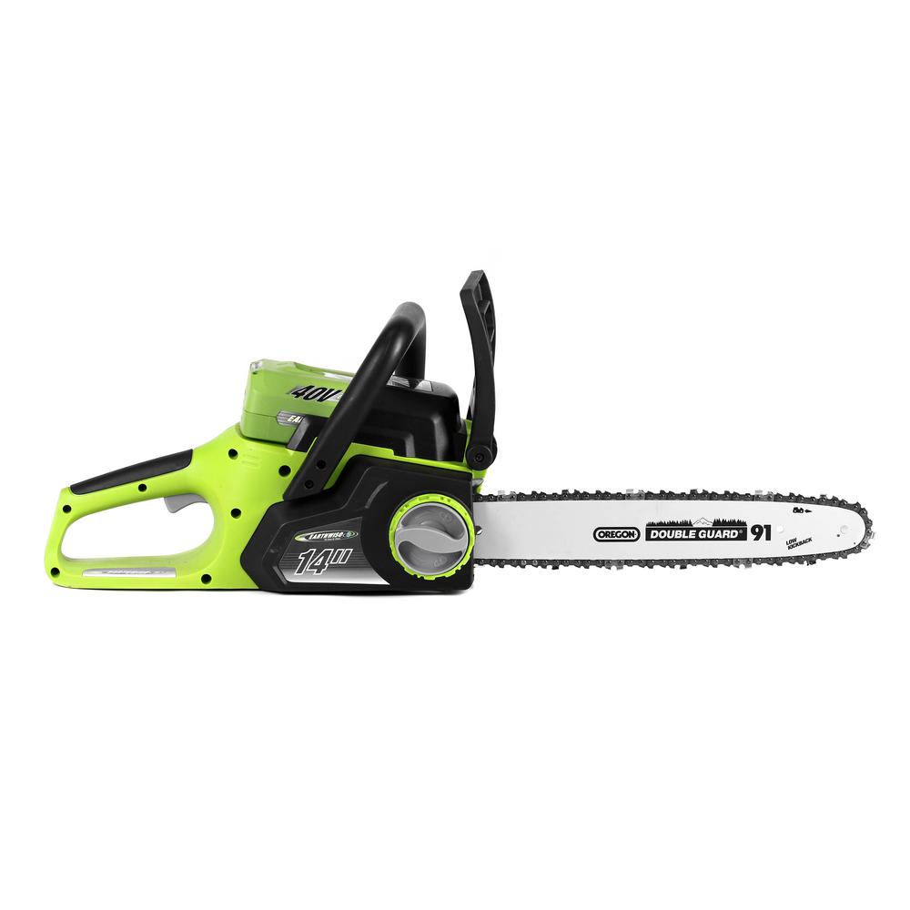 Earthwise 14 in. 40-Volt Electric Cordless Chainsaw