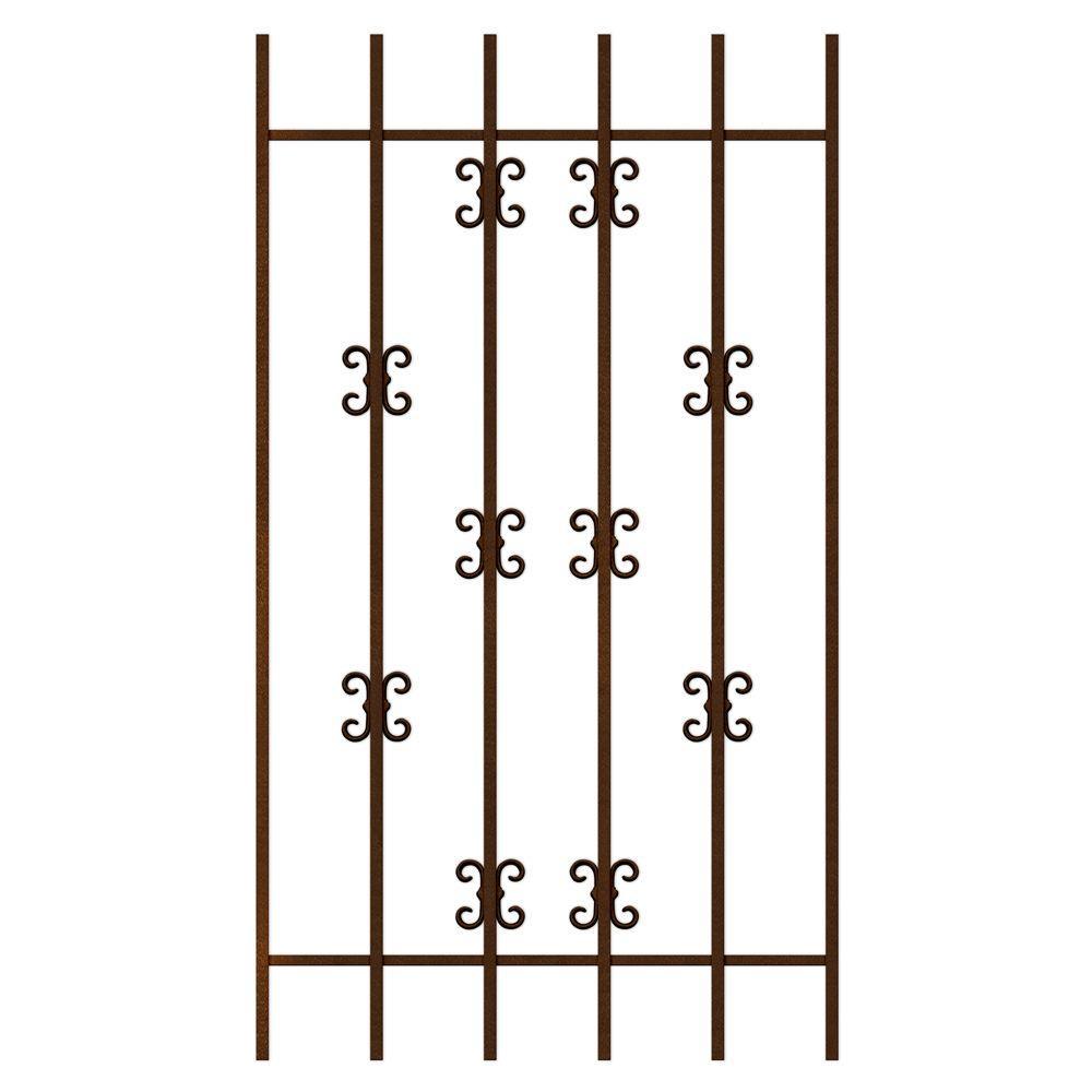 Unique Home Designs Moorish Lace 30 in. x 54 in. Copper 6-Bar Window Guard-DISCONTINUED