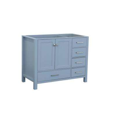 Cambridge 42 in. W Vanity Cabinet Only in Grey