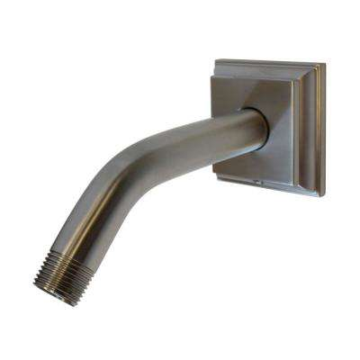 Rainier 7 in. Shower Arm and Flange in Brushed Nickel