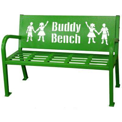 4 ft. Green Buddy Bench