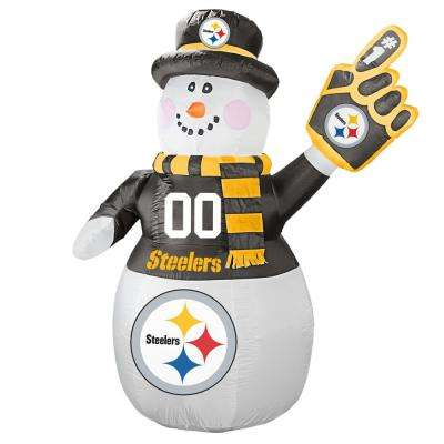 7 ft. Pittsburgh Steelers Inflatable Snowman