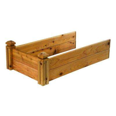 24 in. x 11 in. x 48 in. Cedar Add-On Elevated Garden Bed