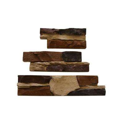 Go-Stone #17 Cedar Creek Flats 4 in. x 8 in., 4 in. x 12 in., 4 in. x 16 in. Stone Panels (5 sq. ft./Box)