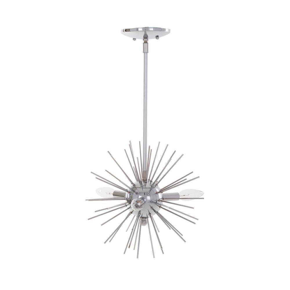 3-Light Chrome Finish Sputnik Mini Pendant