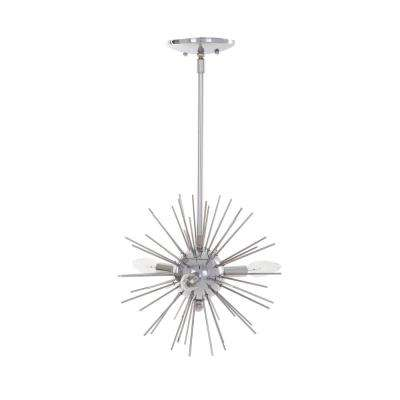 3-Light Chrome Finish Sputnik Mini Pendant