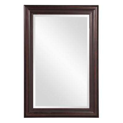 36 in. x 24 in. x 1 in. Oil Rubbed Rectangular Vanity Framed Mirror