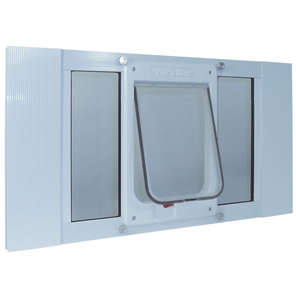Ideal Pet 7.5 in. x 10.5 in. Large Chubby Kat Frame Door for Installation into 23 to 28 in. Wide Sash Window