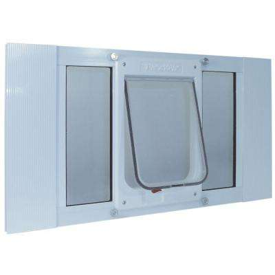 7.5 in. x 10.5 in. Large Chubby Kat Frame Door for Installation into 23 to 28 in. Wide Sash Window