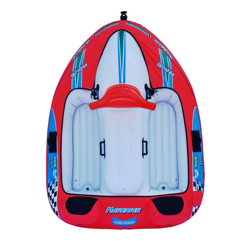 Rave Sports Maverick 92 in. x 69 in. Inflatable Boat Towable