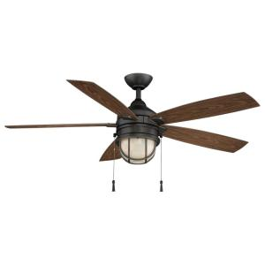 Hampton Bay Seaport 52 in LED Natural Iron Ceiling Fan
