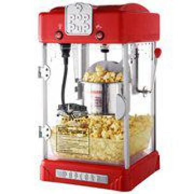 Great Northern-Pop Pup 2.5 oz. Red Countertop Popcorn Machine with Measuring Spoon