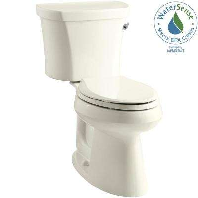 Highline 14 in. Rough-In 2-piece 1.28 GPF Single Flush Elongated Toilet in Biscuit
