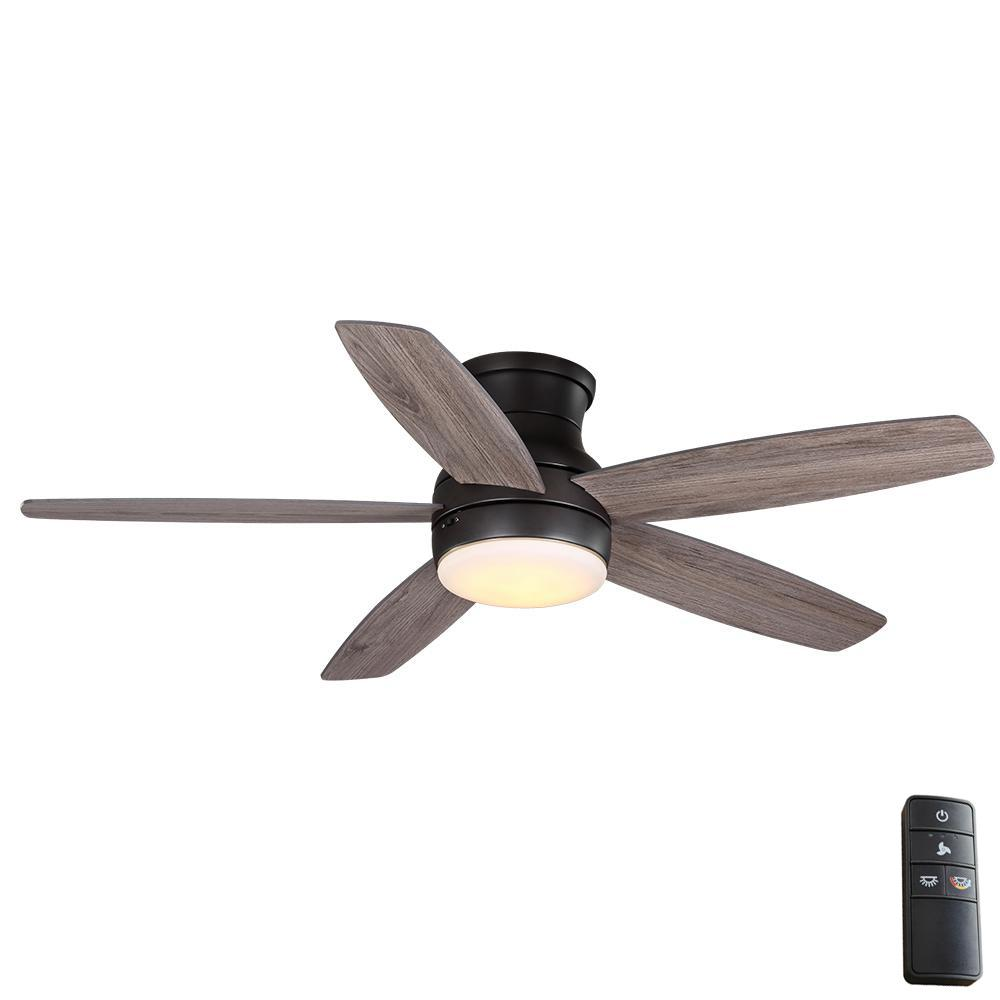 Home Decorators Collection Ashby Park 52 in. White Color Changing Integrated LED Bronze Ceiling Fan with Light Kit and Remote Control