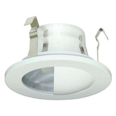 3 in. White and Aluminum Recessed Lighting Trim with Reflector Wall Wash