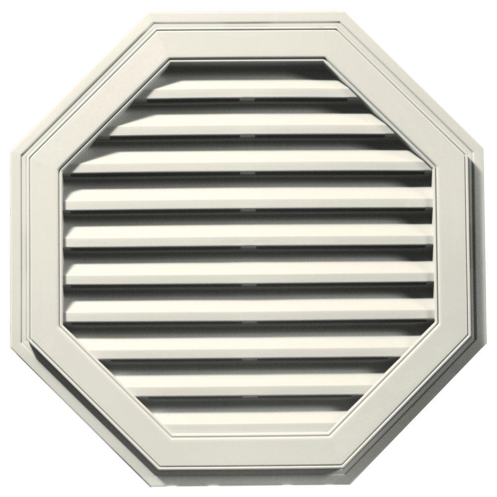 Builders Edge 32 in. Octagon Gable Vent in Parchment