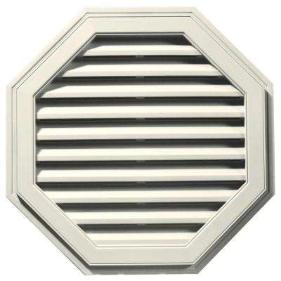 32 in. Octagon Gable Vent in Parchment