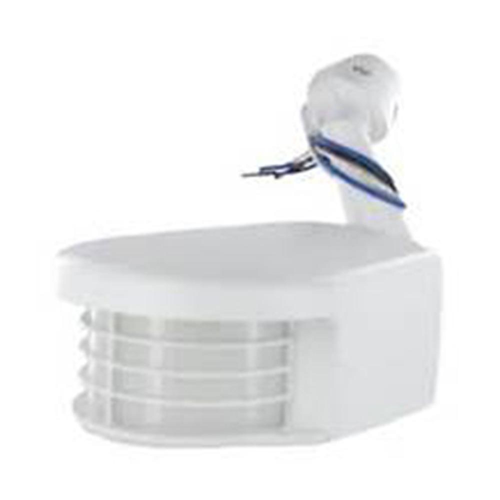 220-277-Volt Commercial Grade Passive Infrared 2500 sq. ft. 110-Degree Outdoor Motion Sensor, White