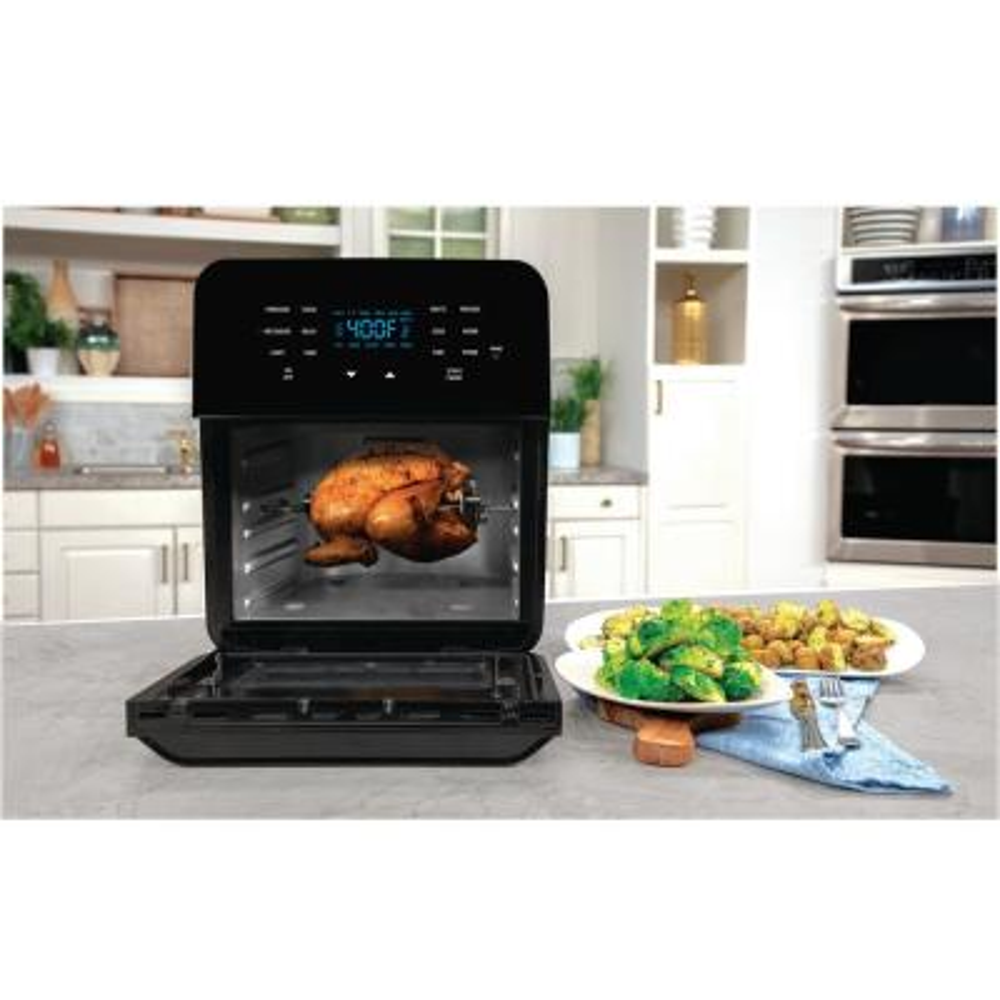 NuWave-14 Qt. Black with 100 Pre-Programmed Recipes Air Fryer