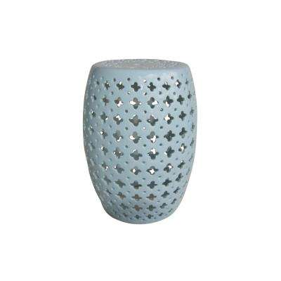 18 in. Blue Garden Stool
