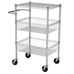 Click here to buy HDX 3 Tier 35 inch H x 24 inch W x 18 inch D Commercial Wire Cart by HDX.