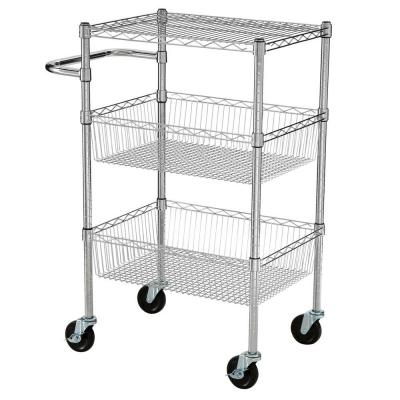3 Tier 35 in. H x 24 in. W x 18 in. D Commercial Wire Cart