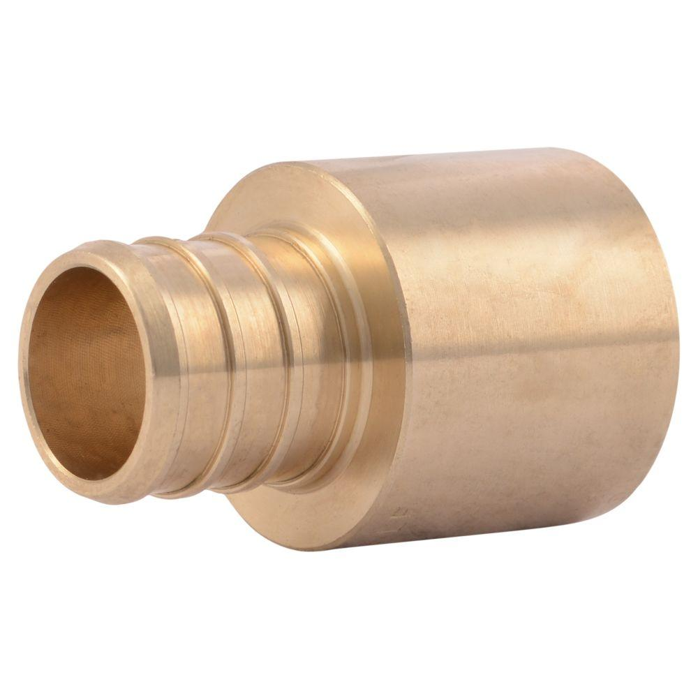 3 4 in brass pex barb x female copper sweat adapter for Pex pipe vs copper