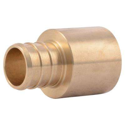 3/4 in. Brass PEX Barb x Female Copper Sweat Adapter