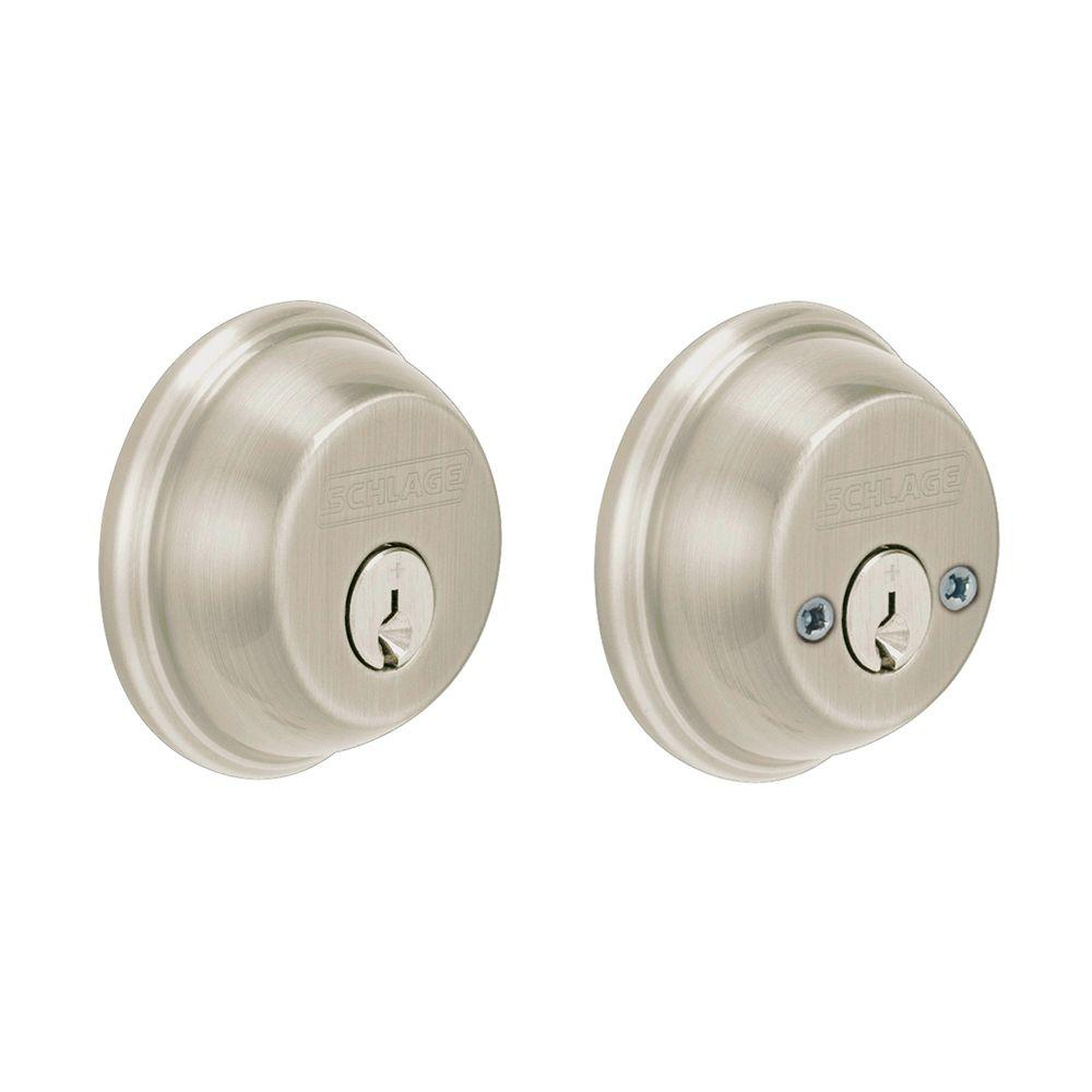 Double cylinder deadbolt lowes videos schlage entry door for Front door knobs home depot