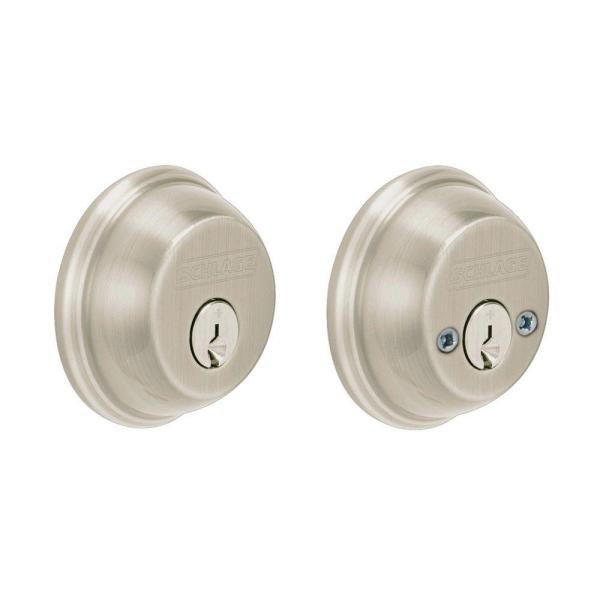 Satin Nickel Double Cylinder Deadbolt