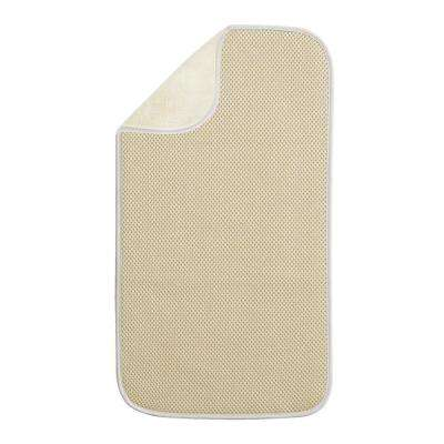 iDry Mini 18 in. x 9 in. Kitchen Mat Solid in Wheat/Ivory