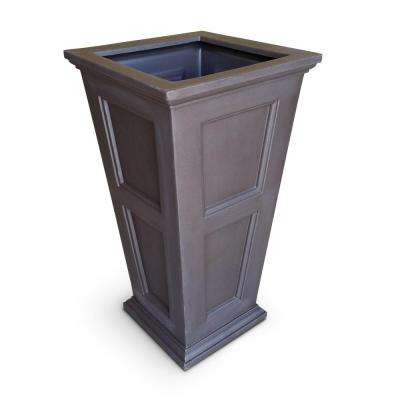 Fairfield 40 in. Espresso Plastic Planter