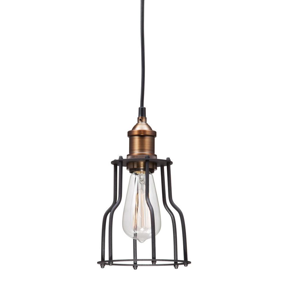 Aragonite Black and Copper Ceiling Lamp