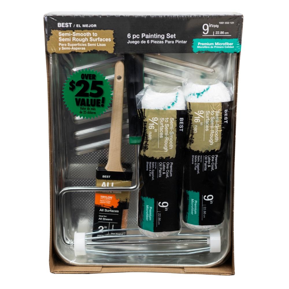 6-Piece Microfiber Paint Tray Kit