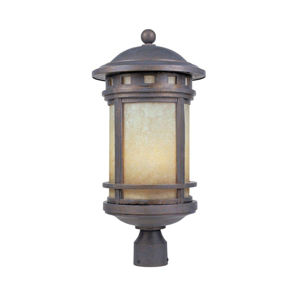 Designers Fountain Mesa 3-Light Mediterranean Patina Outdoor Post Lantern