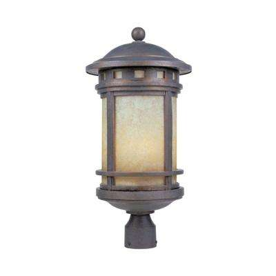Mesa 3-Light Mediterranean Patina Outdoor Post Lantern