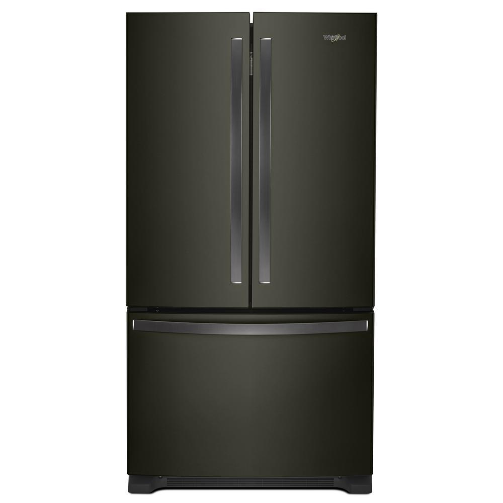 Whirlpool French Door Counter Depth Refrigerator: Whirlpool 20 Cu. Ft. French Door Refrigerator In