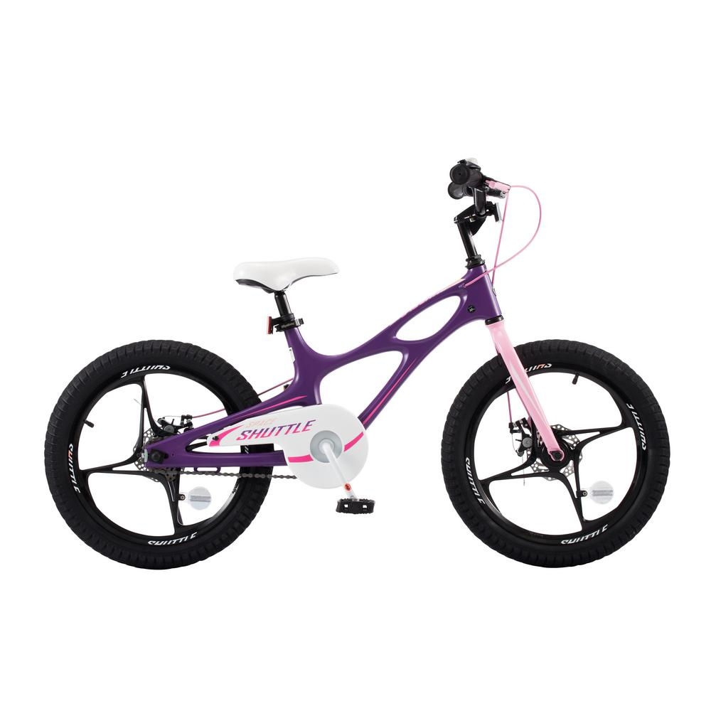 19283118f8f Royalbaby 18 in. Magnesium Space Shuttle Kid's Bike in Purple-RB18 ...
