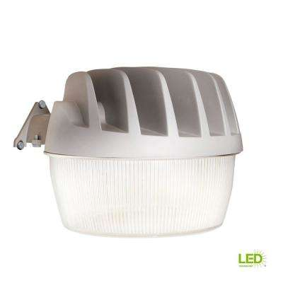 Gray Outdoor Integrated LED Area Dusk to Dawn Security Light with Built-in Photocell Sensor, 5500 Lumens, 5000K Daylight