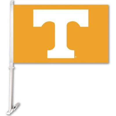 NCAA 11 in. x 18 in. Tennessee 2-Sided Car Flag with 1-1/2 ft. Plastic Flagpole (Set of 2)